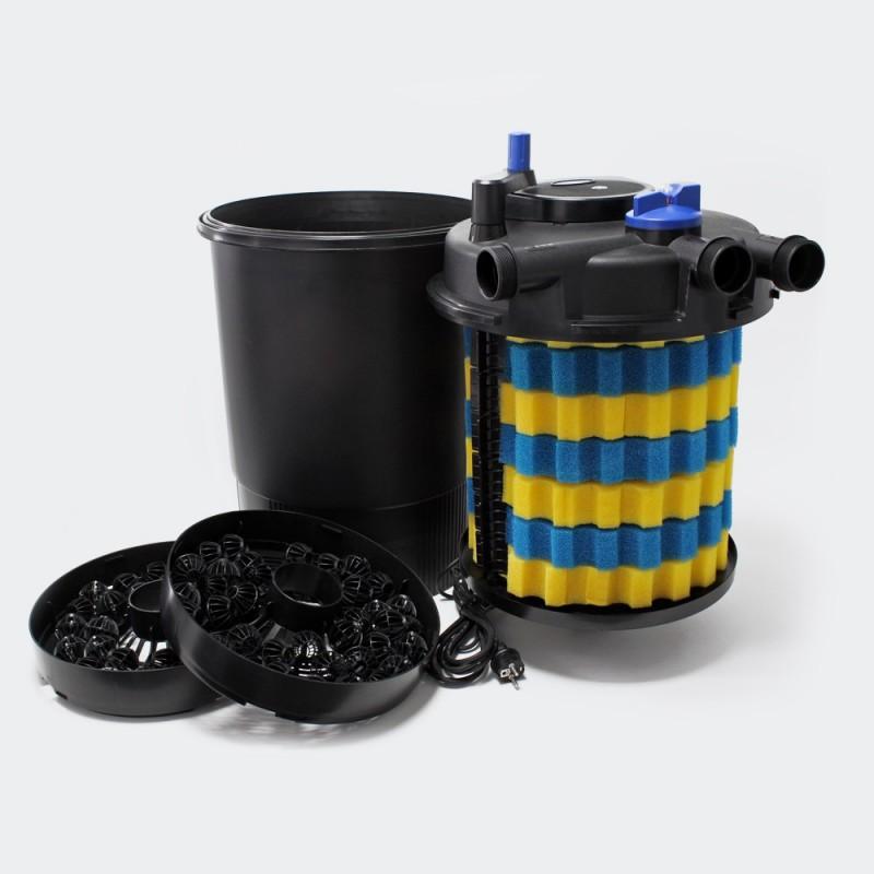 Filtre bassins de jardin sous pression uv 55w jusqu 39 for Filtre bassin poisson