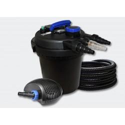 Kit filtre pression complet pour bassins de 10000 l pompe 6000 l