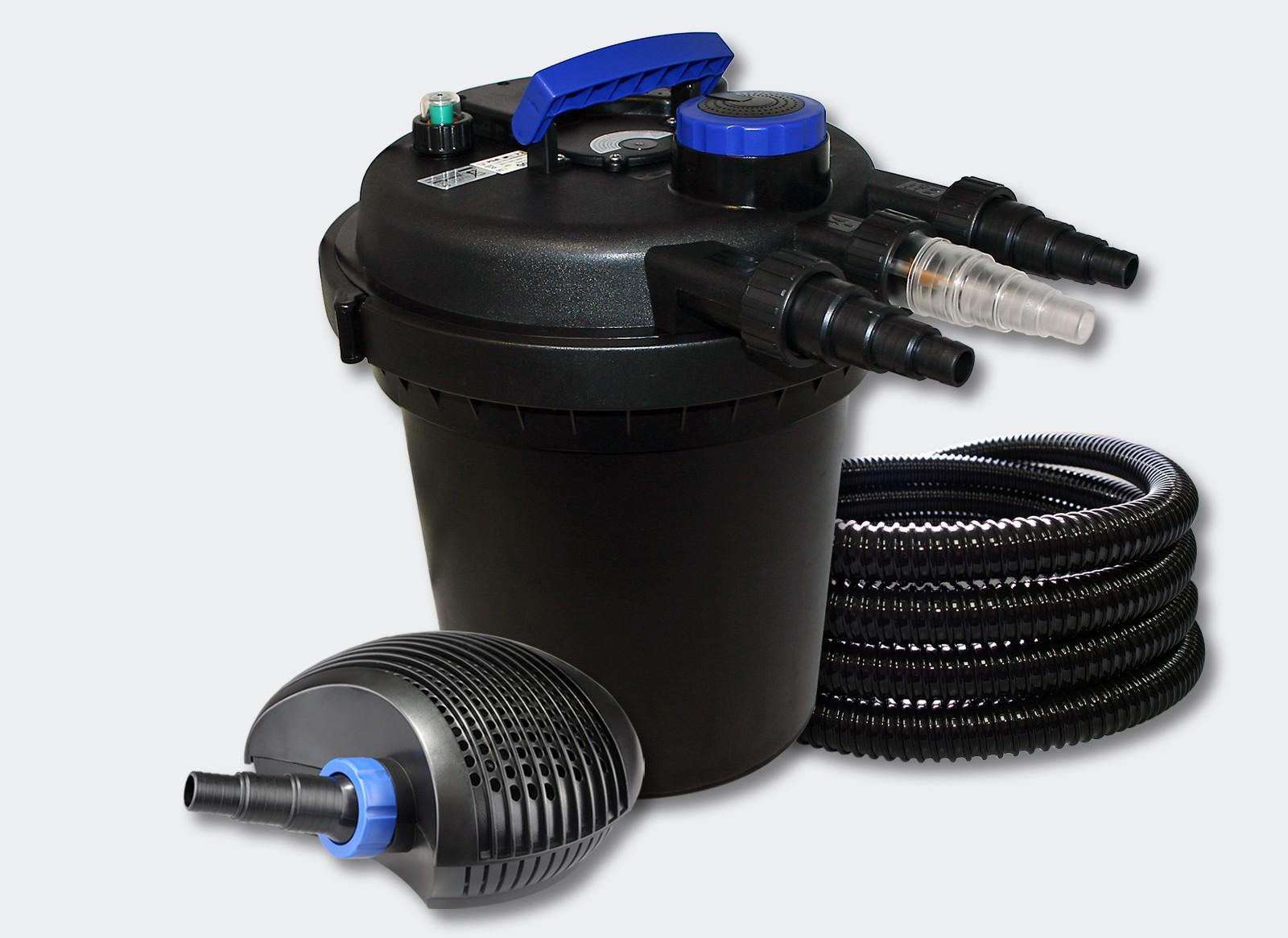 kit filtre pression complet pour bassins de 10000 l pompe 6000 055461 le poisson qui jardine. Black Bedroom Furniture Sets. Home Design Ideas