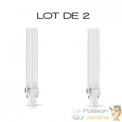 Lot de 2 ampoules UVC de rechange 11W pour aquarium ou bassins de jardin