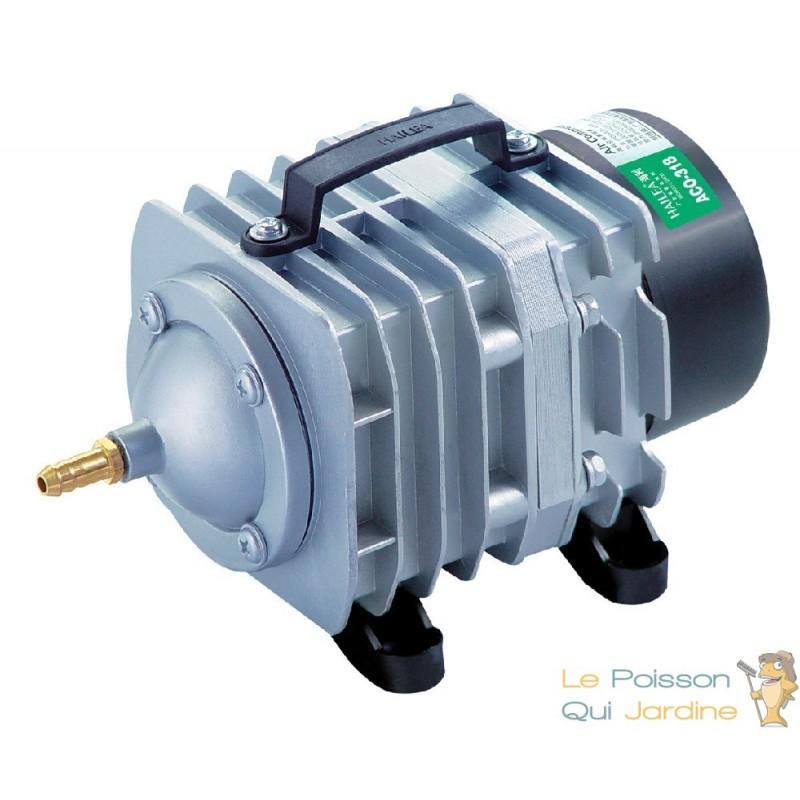 Compresseur pompe air 2100 l h pour bassins de jardin for Pompe a air bassin