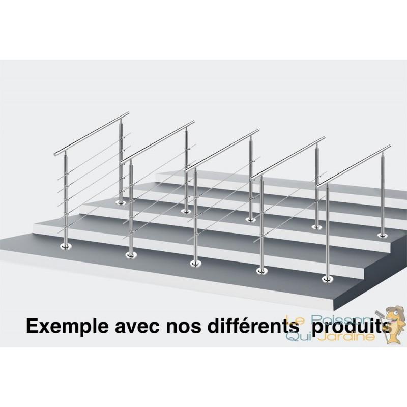 rampe d 39 escalier sur pied 80 cm en inox rambarde ou main courante. Black Bedroom Furniture Sets. Home Design Ideas