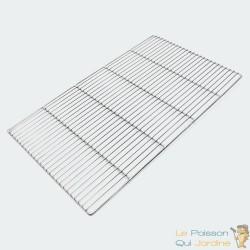 Grille de barbecue rectangulaire en inox : 67 X 40 cm. Grille de remplacmeent pour barbecue