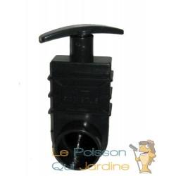Vanne Guillotine PVC 50 mm pour bassin de jardin