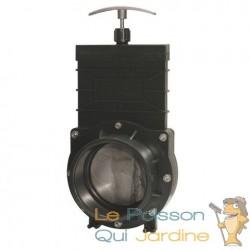 Vanne Guillotine PVC 90 mm pour bassin de jardin