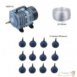Set aération bassin de jardin 12 boules de 12000 à 15000 litres