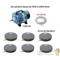 Set aération bassin de jardin N2 de 7000 à 10000 litres