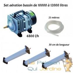 Set aération bassin de jardin N3 de 10000 à 12000 litres