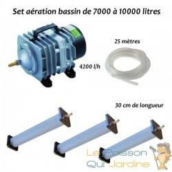 Set aération bassin de jardin N3 de 7000 à 10000 litres
