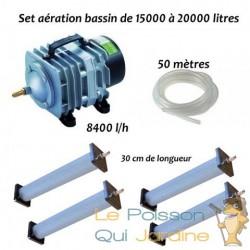 Set aération bassin de jardin N3 de 15000 à 20000 litres