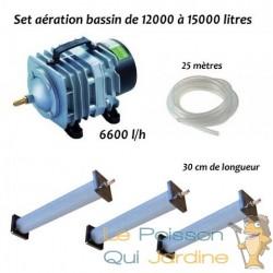 Set aération bassin de jardin N3 de 12000 à 15000 litres