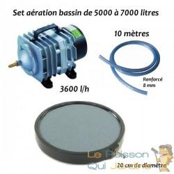 Set aération N4 bassin de jardin de 5000 à 7000 litres