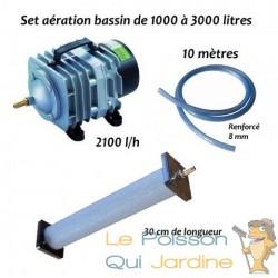 Set aération N4 bassin de jardin de 1000 à 3000 litres