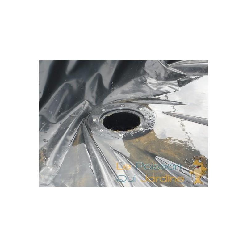 Connecteur b che vis inox passe paroi pvc 75 mm bassin et for Bache pour bassin pvc ou epdm