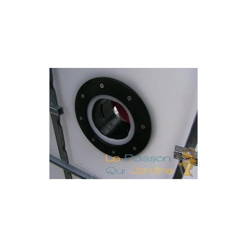 Connecteur b che vis inox passe paroi pvc 75 mm bassin et for Bache en pvc pour bassin