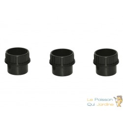 Lot de 3 : Passe paroi à visser PVC 110 mm pour bassin de jardin et étang