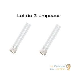 Lot de 2 ampoules UVC de rechange 18W pour aquarium ou bassins de jardin