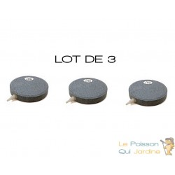 Lot de 3 diffuseurs d'air plaque ronde 10 cm pour bassins de jardin