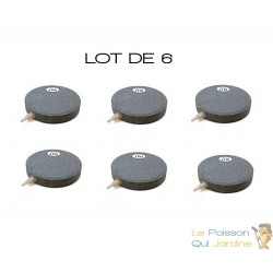 Lot de 6 diffuseurs d'air Plaque ronde 8 cm pour bassins de jardin