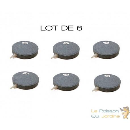 Lot de 6 diffuseurs d'air plaque ronde 10 cm pour bassins de jardin