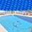 Bâche de piscine Ronde à Effet Isolant - Bleue - Diamètre 3,6 m