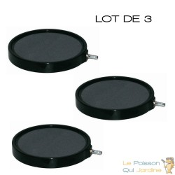 Lot de 3 diffuseurs d'air plaque ronde 20 cm pour bassins de jardin