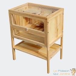 Petite cage en bois pour Hamster ou autres rongeurs. Sur pieds