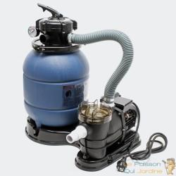 Filtre à sable avec pompe pour piscine hors sol. 21 kg de sable de filtration