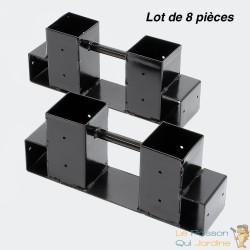 8 supports en métal pour rangement du bois de chauffage - 05162