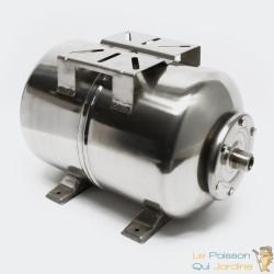 Ballon ou cuve à vessie INOX pour installations sanitaires : 24 litres