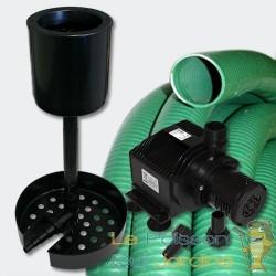 Kit cumeur bassin et piscine avec pompe et tuyau