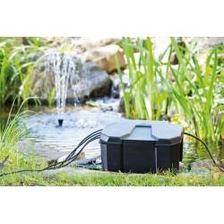 Boîte de protection prises électriques pour bassins de jardin