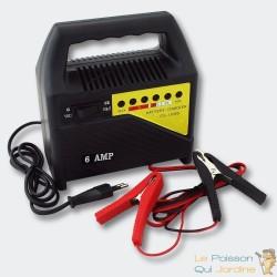 Chargeur 6A De Batterie Rapide - 1106S- Batteries 6V Et 12V