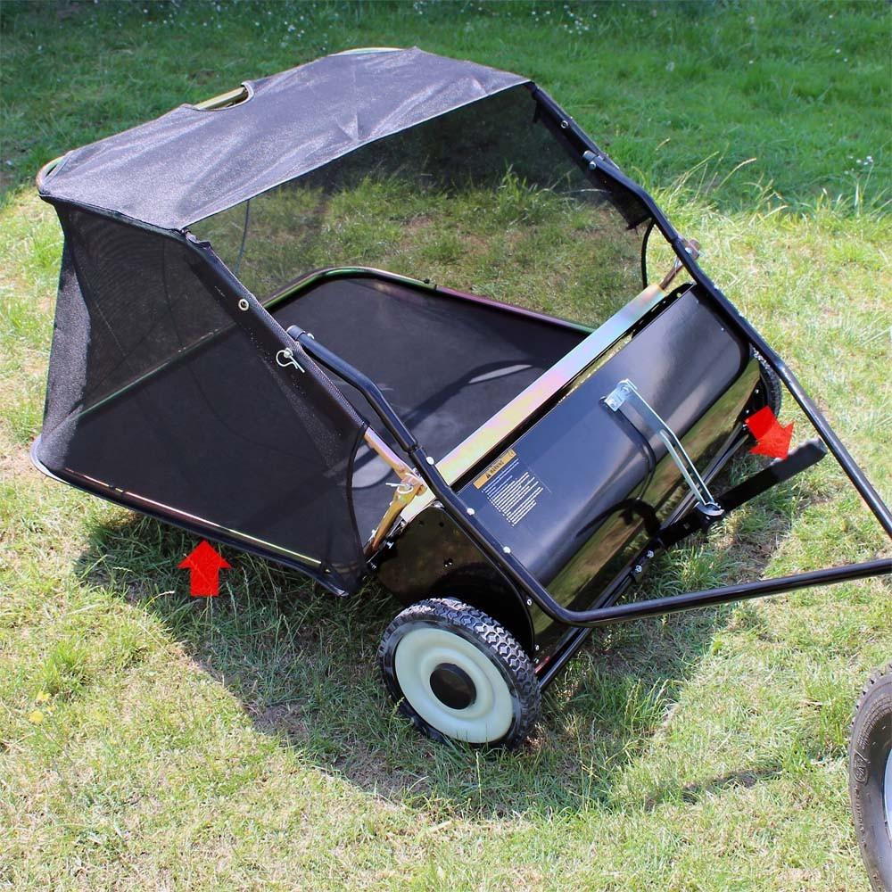 remorque ramasse feuilles pelouse 120 cm pour tondeuse. Black Bedroom Furniture Sets. Home Design Ideas