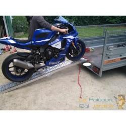 Rampe pliable pour moto, véhicule 2 roues. Rampe de chargement 340 kg