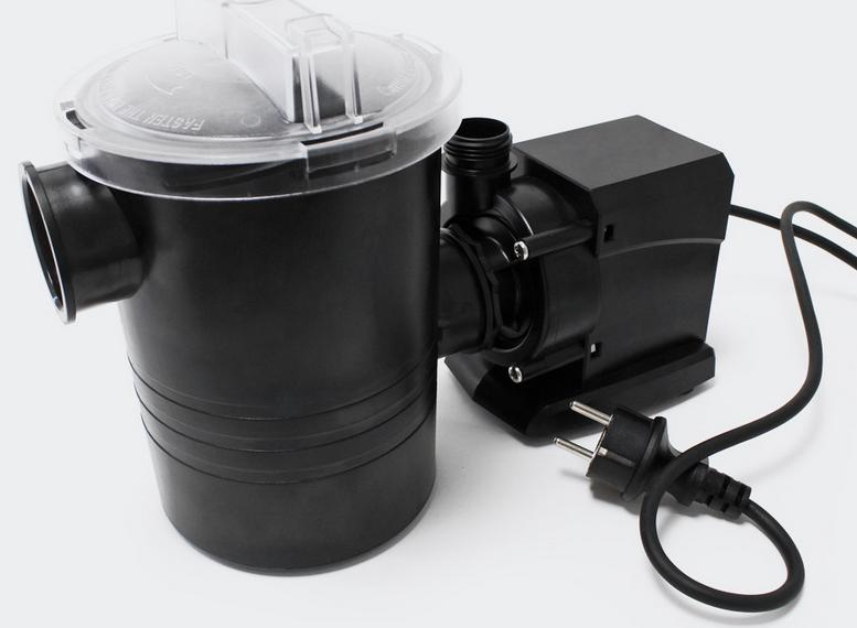 Pompe piscine de 7500 l/h - 80 W avec pré filtre de protection