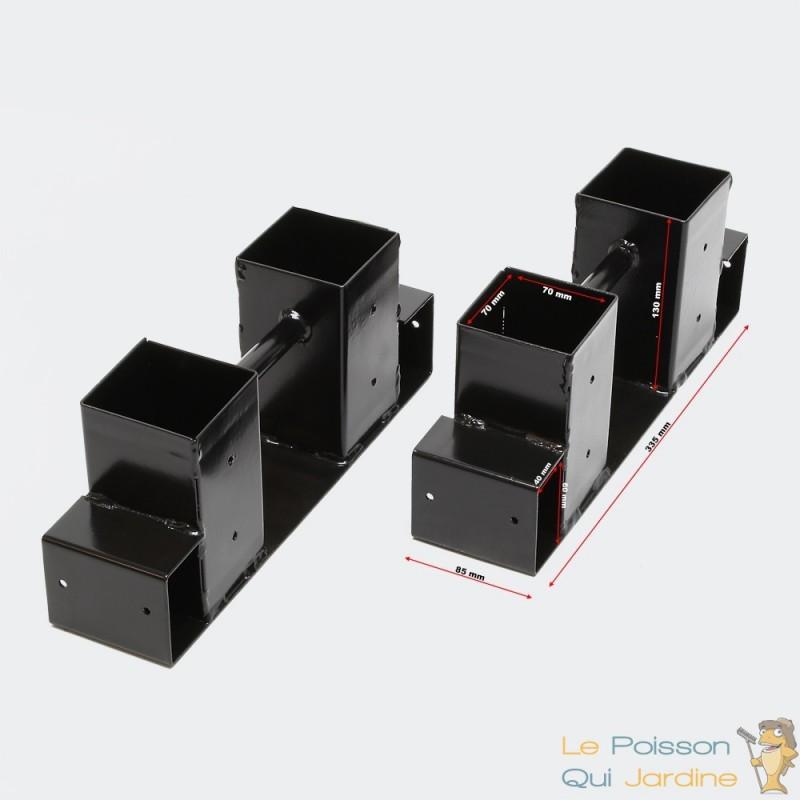 4 range b ches support en m tal pour rangement du bois de. Black Bedroom Furniture Sets. Home Design Ideas