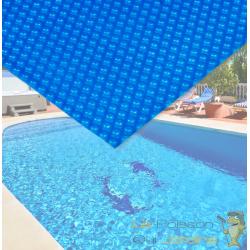 Bâche De Piscine Rectangulaire Bleue à Effet Isolant - Bleue - 4 x 6 m