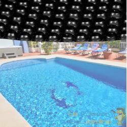 Bâche de piscine Ronde à Effet Isolant - Noire - Diamètre 5 m
