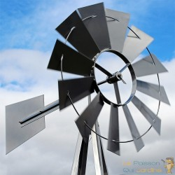 Éolienne Décorative En Métal Pour Jardin. Style éolienne Américaine.