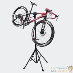 Pied d'Atelier de Réparation Pour Vélos - Hauteur Réglable - Pivotant
