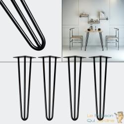 4 pieds de tables de 36 cm he haut. Look et design loft
