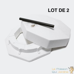 Lot de 2 Cloche Anti Gel  40 cm De Diamètre Pour Bassins de Jardin