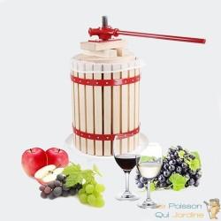 Presse - Fruits Manuel En Bois Avec Son Torchon - 30 Litres
