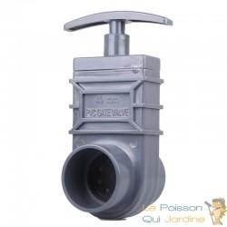 Vanne Guillotine PVC 40 mm pour bassin