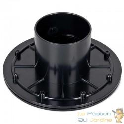 Connecteur bâche - passe paroi PVC 75 mm pour bassin de jardin et étang