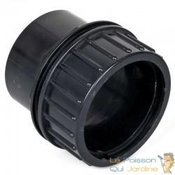 Passe paroi à visser PVC 90 mm pour bassin de jardin et étang