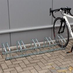 Rangement - Râtelier 5 Vélos Avec Fixation Au Sol - Longueur 130,5 cm - Rack 1 niveau