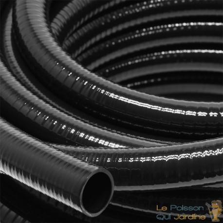 5 mètres tuyau 25 mm PVC résistant Noir 330 gr/m pour bassin