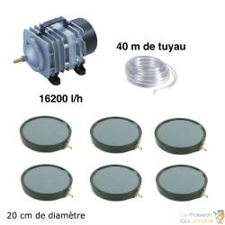 Set aération bassin de jardin 6 plaques 20 cm de 25000 à 30000 litres